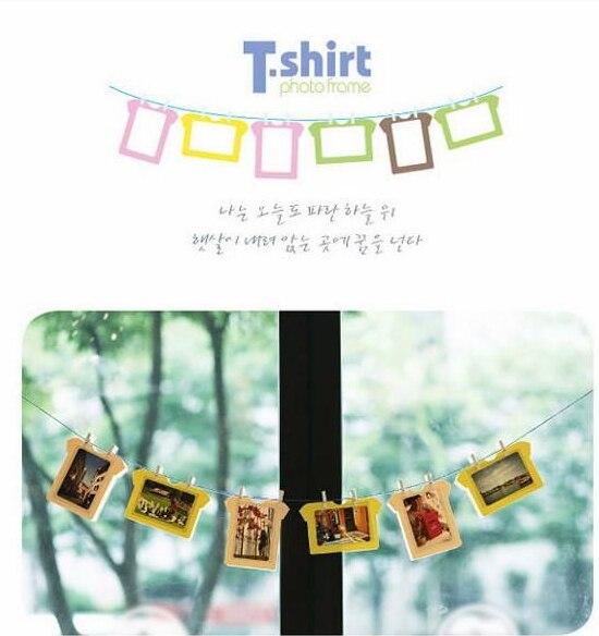 DIY Deco T Shirt Hanging 5 inch Paper Photo Frame Cardboard Material ...