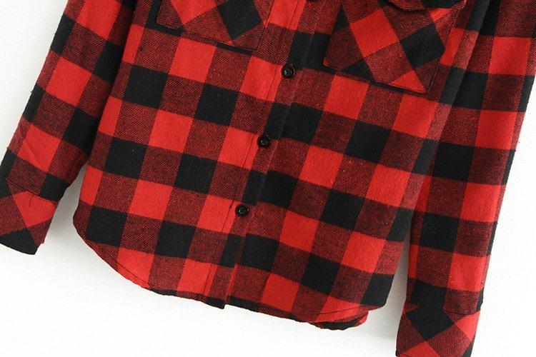 Aliexpress.com : Buy 2017 Autumn Ladies Black Red Flannel Plaid Shirt Women  Blouses Cotton Tops For Women Clothing Brand Blusas Femininas Outwear from  ... - Aliexpress.com : Buy 2017 Autumn Ladies Black Red Flannel Plaid