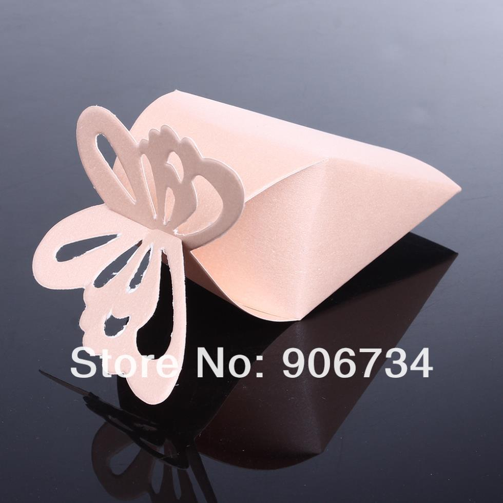 50 Pcs Butterfly Favor Gift Candy Boxes Cake Style for Wedding Party ...