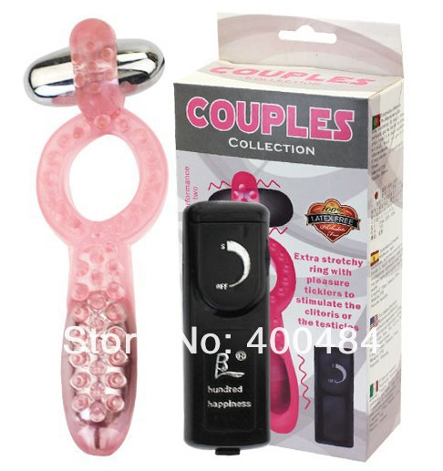 Stretchy Penis Ring Cock Ring w/ Pleasure Ticklers Clitoris Testicle Teaser Stimulator Dual Vibrator Adult Sex Toys YCBI-014054 8
