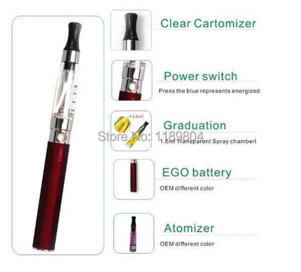 leiqidudu blister pack ego ce4 atomizer with 650mah 900mah 1100mah battery egot blister kit e cigarette starter kit DHL 3