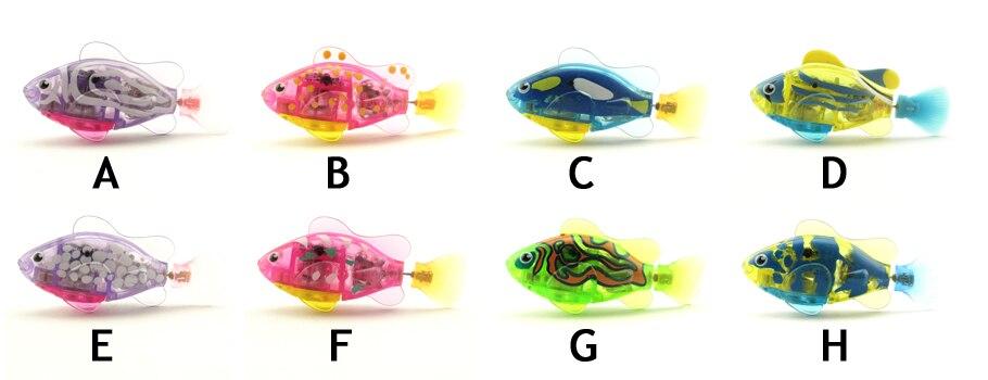 robo fish led