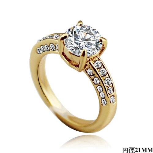 2014 New Arrival Vintage Designer Zircon Finger Ring Decent Luxury