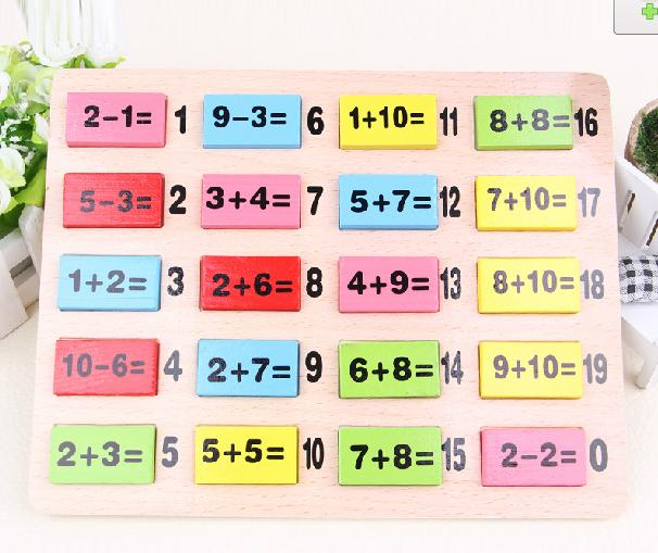 110PCS Domino Wood Numeric addition subtraction table Children 0027s - subtraction table