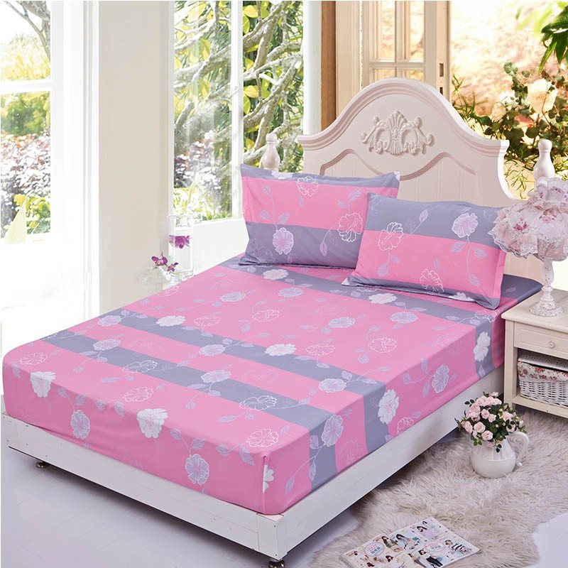 Home textile bed sheet sheet flower mattress cover printing bed sheet elastic rubber bedclothes 180*200cm summer bedspread band 20