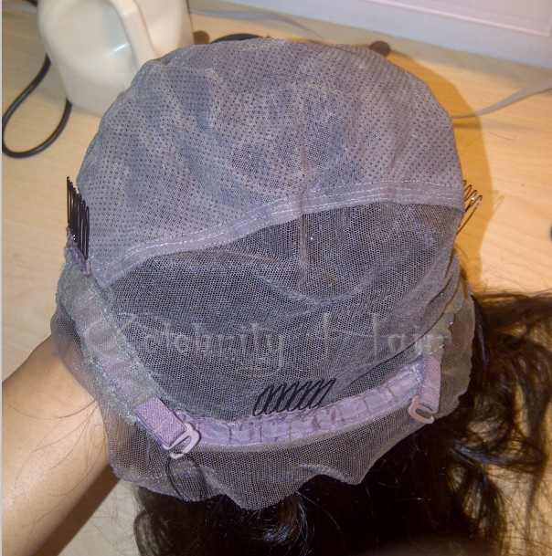 регулируемый ремень клипы средней части парик человеческих волос для черная женщина для женщины полный шнурок / парик фронта шнурка бесклеевой естественной границе волос