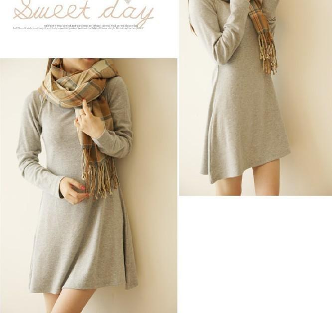 women-s-ladies-long-sleeve-Grinding-wool-comfortable-dress-Joker-maxi-casual-dresses-Free-Shipping-F3211 (1)