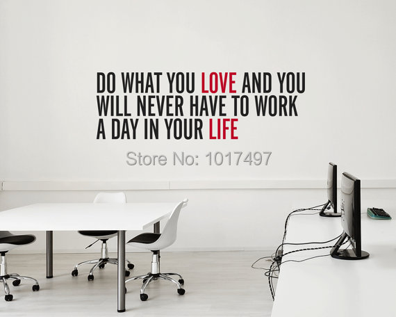 Aliexpress.com : Buy Free Shipping Inspirational Vinyl Wall Decal Quote  Stickers Do What You Love .. For Home Office ,J2051 From Reliable Stickers  Jdm ...