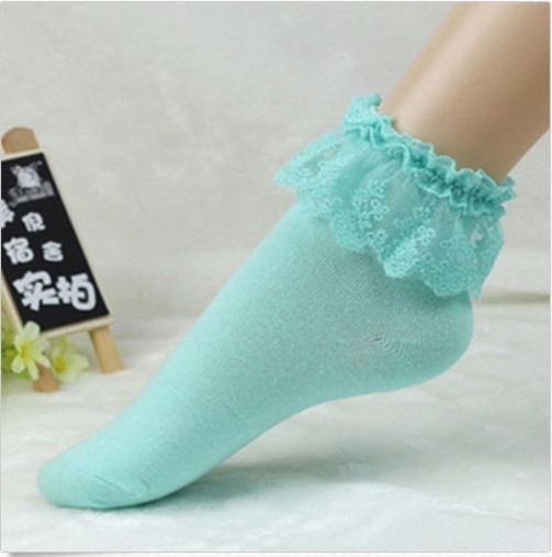 16 Fashionable Lovely Cute Fashion Women Vintage Lace Ruffle Frilly Ankle Socks Lady Princess Girl Favorite 5 Color Available 12
