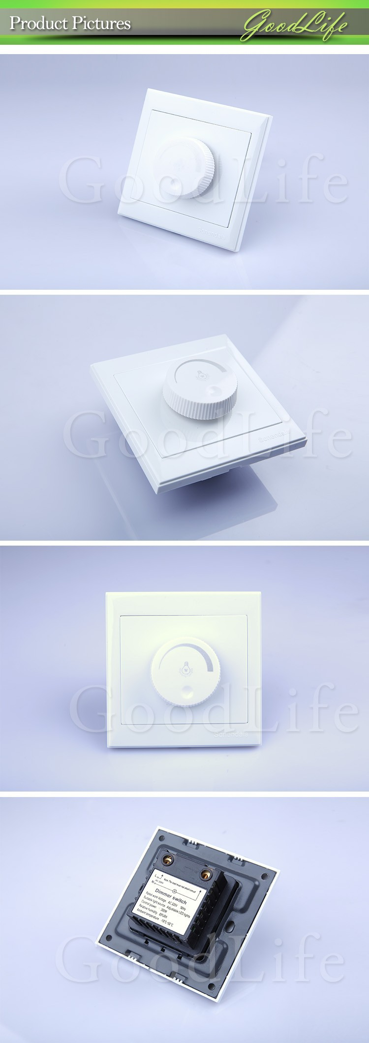 Led Scr Dimmer Switch 300w 220v Dimming Driver Brightness Ac