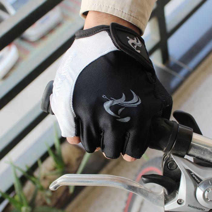 четыре цвета велосипед велосипед MTB гонки половины гель МТБ для верховой езды перчатки без пальцев водителя tacing женская мужчин мл хl