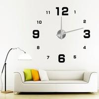 100 * 100 см Вт серии нагар гостиной 3д Nest Nest часы творческий часы часы современного искусства персонализировать цифровые часы w019