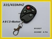 РФ запись дистанционного управления 2 кнопка 4 ab блокировки разблокировать abcd колокол освещения радио передатчик спросить 1527 2260 обучение фиксированной code315/433