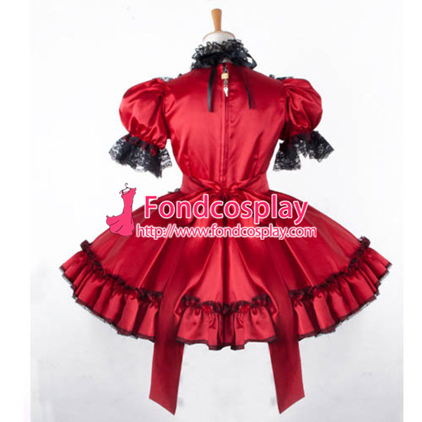 getSubject() aeProduct.getSubject() - Aliexpress.com : Buy Free Shipping Sissy Maid Dress Lockable Red