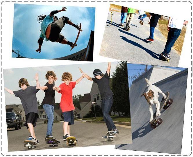 двойной рокер скейтборд, четыре колеса, Clan D доска
