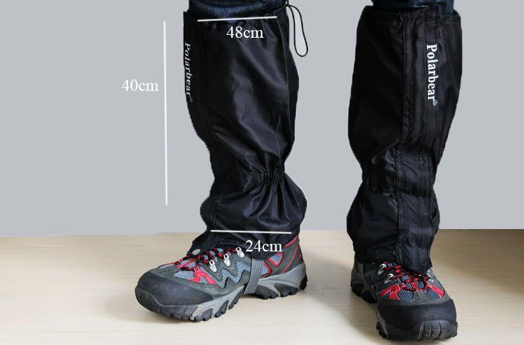 1 пара водонепроницаемый дышащий чехол лагерь поход зимние леггинсы поход скандинавской ходьбы подняться литий обувь загрузки грязи ногу ногу оборудования