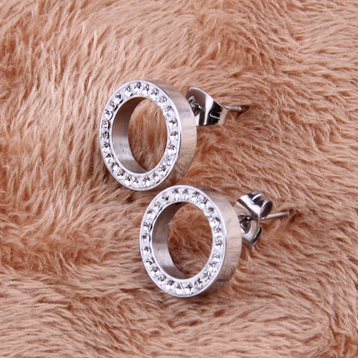 316L Stainless Steel Earring Crystal Stud Earrings For Women Joyas Brincos Bijoux Jewelry Earings Fashion 5