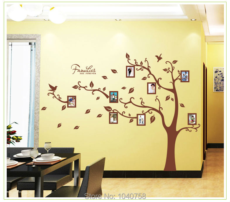 Amusing 40+ Family Tree Picture Frame Wall Decorating Design Of Best ...