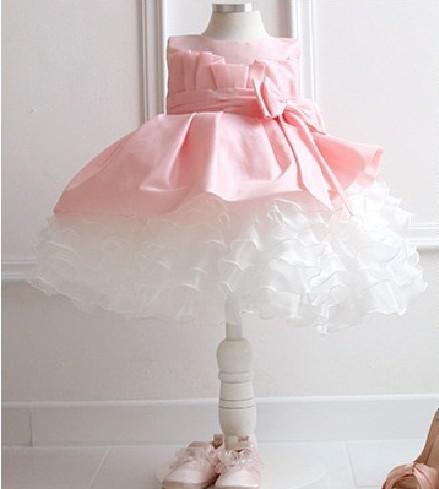красивая девушка в пати невесты в платья дети ну вечеринку юбка девушки без рукавов с кружевами платье розовый платье принцессы