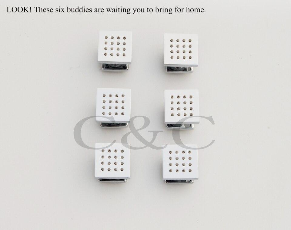 מקלחת אמבטיה להגדיר Thermostatic פונקציה 24 אינץ ' LED ראש מקלחת מפל יד מקלחת 007-24H