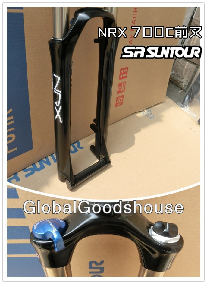 "SR Suntour NCX Lite 700C 1-1//8/"" 70 mm Travel Suspension Disc Fork  Speed lockout"