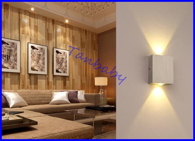 Tanbaby 2W led wall lamp square led spot light aluminm modern home ...