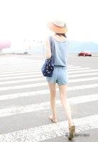 весна и лето женщин свободного покроя шнурок сочетает белые джинсы сочетает шорты большой размер