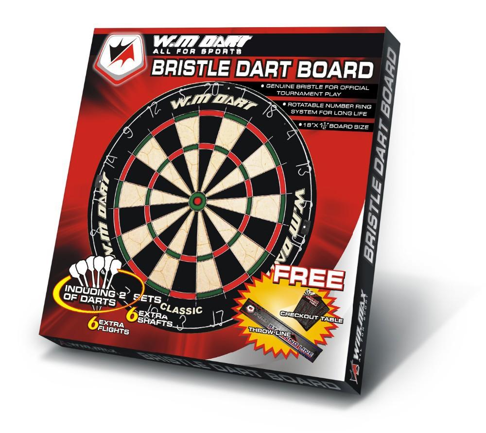 18X1 1/2u0027u0027 Dartboard Cabinet Designs Bristle Dartboard With 2 Sets Of Darts  46*3.8CM