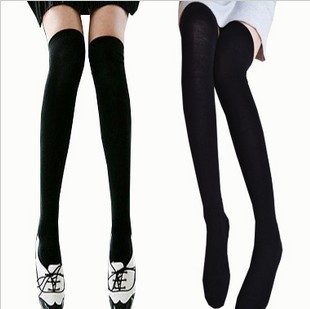 Over-The-Knee-Socks-Thigh-High-Cotton-Sock-Thinner-3-Colors-Black-White-Grey-Bluefor-Selection (1)