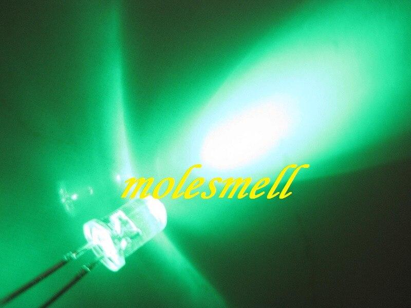 led verde 5mm água clara redonda led verde 20000mcd 5mm led verde