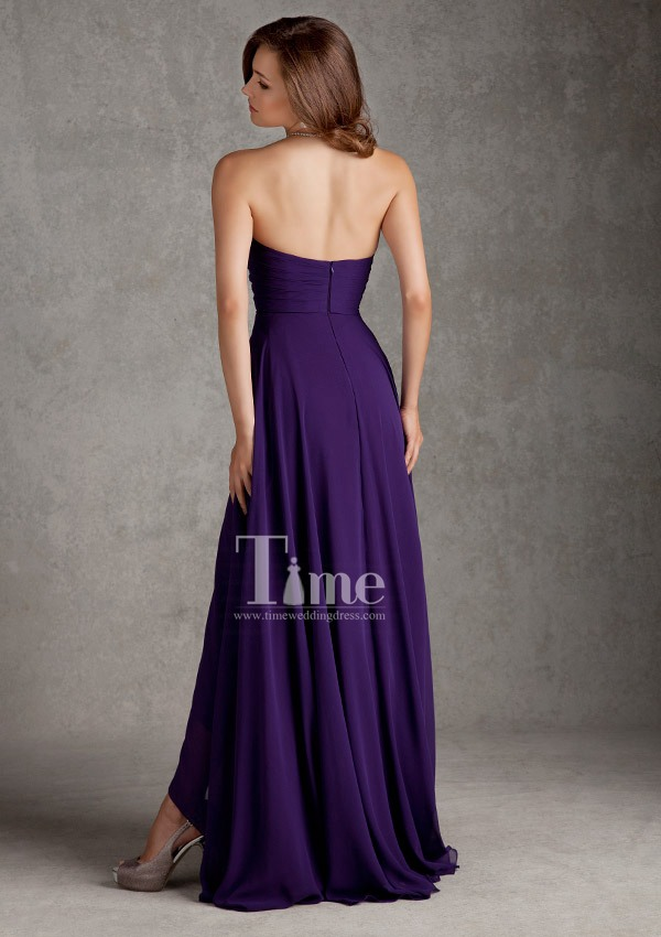 short front long back purple bridesmaid dresses 2014 Black/Navy blue ...