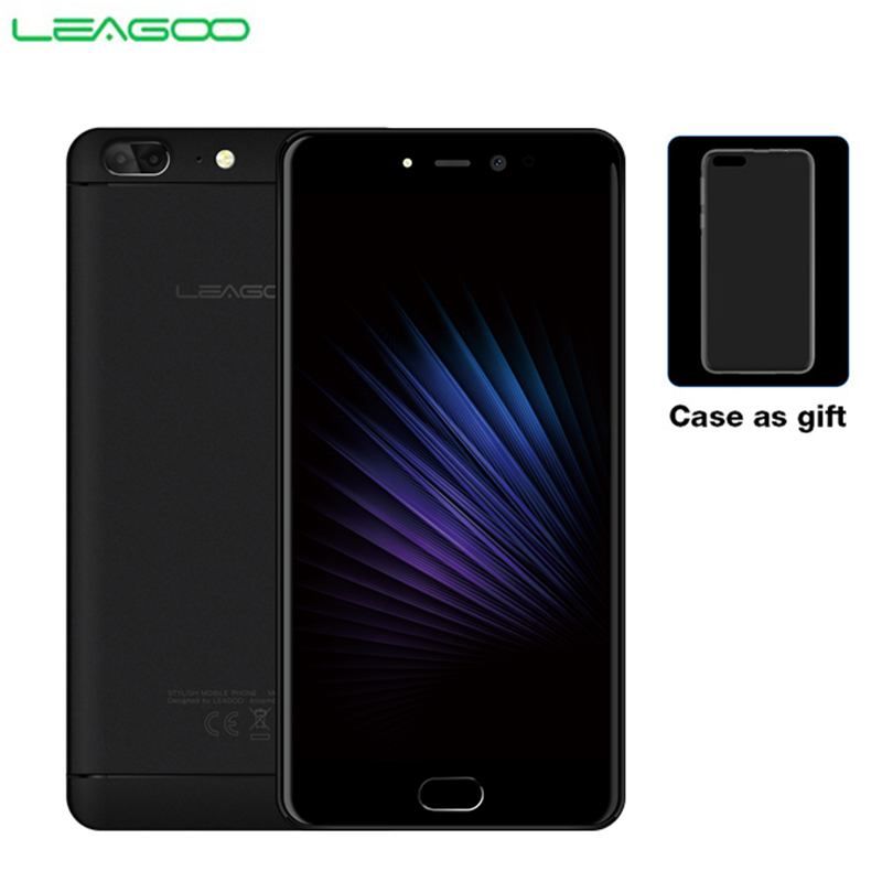 LEAGOO T5 4G LTE Smartphone Android 7.0 MT6750T Octa Core 5.5 FHD 4GB RAM 64GB ROM 13MP double caméra arrière téléphone portable d'empreintes digitales