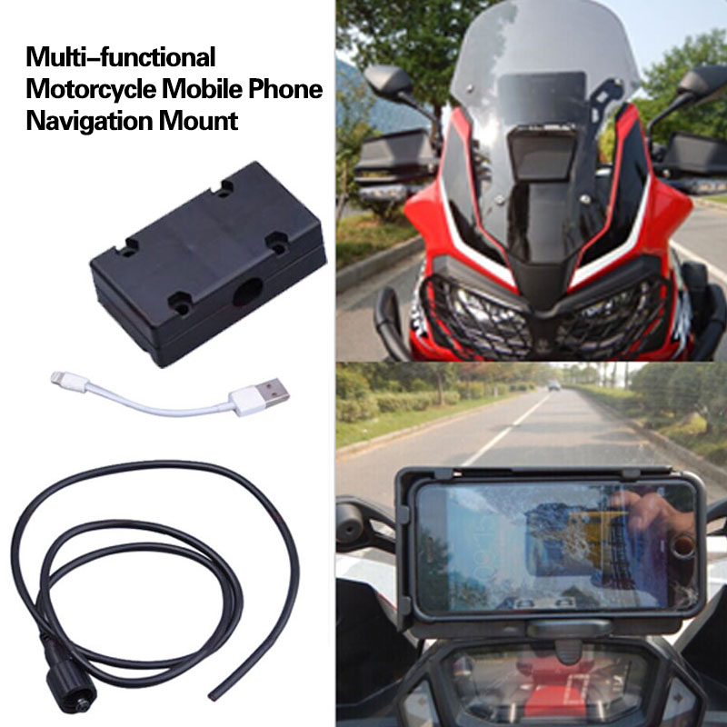 For BMW R1200GS ADV F700 800GS Motorcycle Phone Navigation Bracket USB Charging Mount Stand moto For