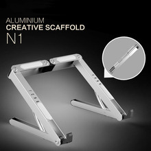 Aluminum Alloy Notebook Stand Portable Adjustable Computer Stand High Quality Phone Pad Laptop Calculator Books Stand Racks