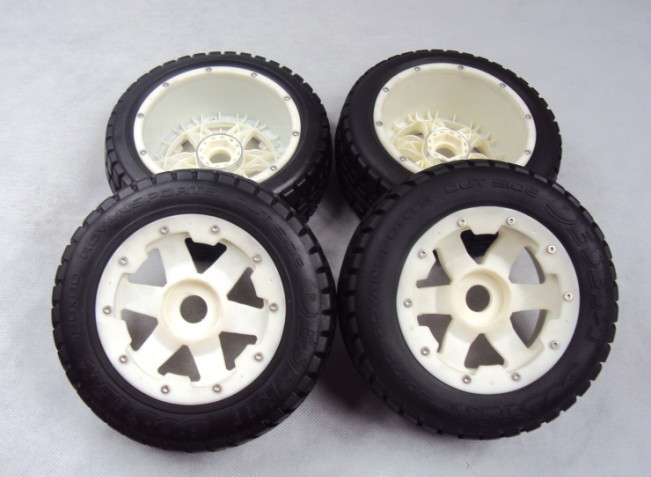 цена на Highway wheel set (2pcs front & 2pcs rear) with nylon super star wheel for terminator