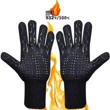 1 sztuk Grill rękawice 300 500 stopni celsjusza ekstremalne żaroodporne silikonowe rękawice kuchenne kuchenka mikrofalowa łopatka grillowa rękawice kuchenne rękawice