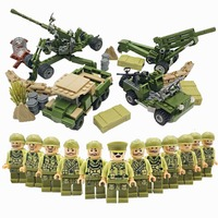 HOT WW2 Military Soldiers with Weapons Guns Bricks Model US Army Mini Action Figures Building Blocks Kids Toys LegoINGlys