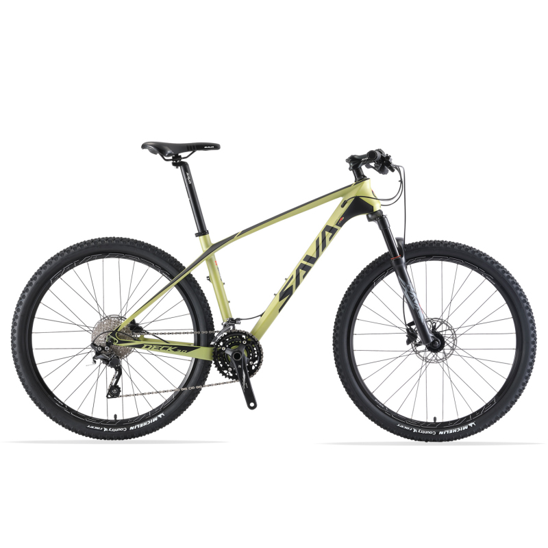 SAVA Mountain Bike Mountain bicycles 27.5 Mountainbike Carbon Bike with SHIMANO DEORE 30 Speeds Bike hydraulic fork Bicycle image