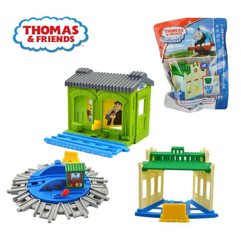 Thomas and friends trains hot tomas garage accessories miniatura de carro diecast model kids jouets pour enfants gift
