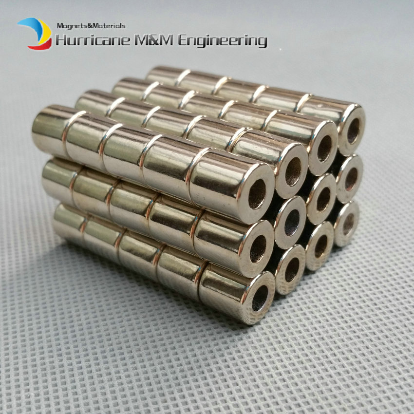 NdFeB Magnet Ring Dia 10x4x10 mm N42 Tube Axially Magnetized Strong Neodymium Permanent Rare Earth Magnets 1000pcs