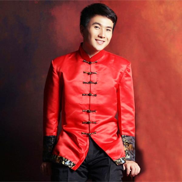 Oriental ropa tangzhuang mandarín boda traje rojo túnica chaqueta tang trajes  de hombre shanghai chino tradicional ropa para hombres en Danza Popular  china ... 3ba4477a4a20