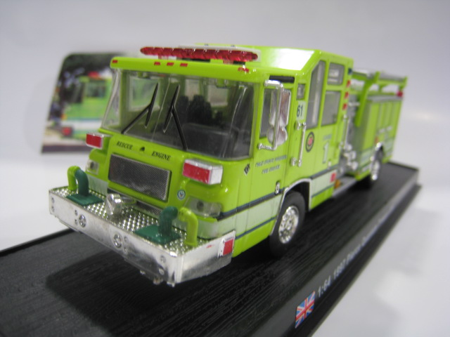 AMER 1/64 Scale Car Model Toys 1997 Plerce Quantum Pumper USA Fire Engine Diecast Metal Truck Model Toy For Gift/Collection