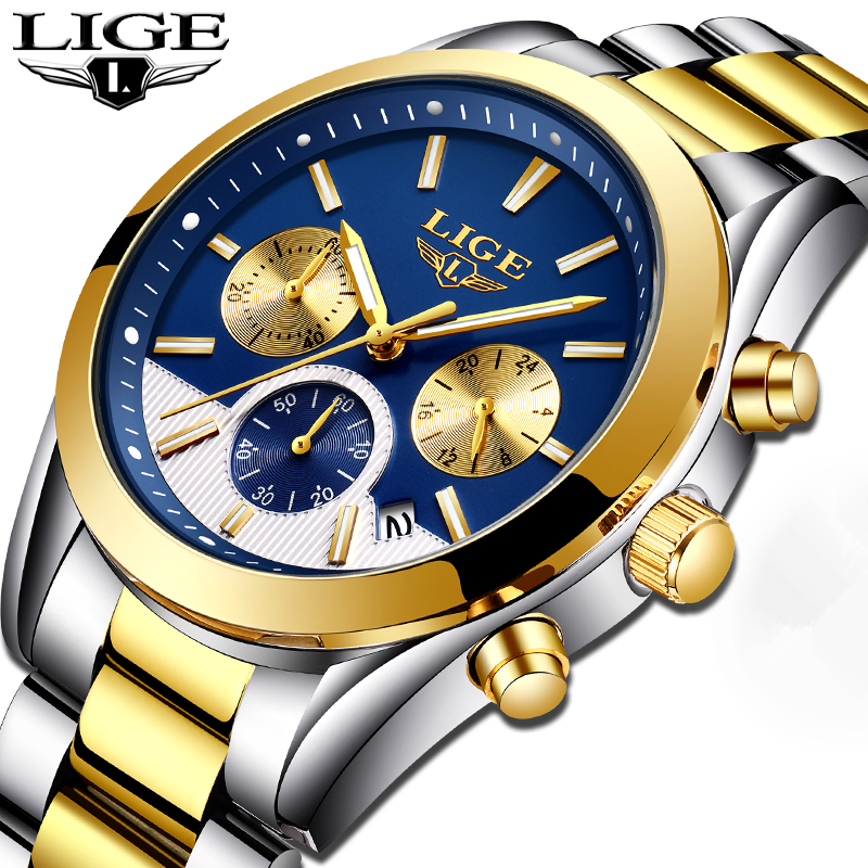 Mens Watches Top Brand Luxury LIGE Men's Fashion Business Quartz Watch Men Waterproof Full steel Sport Watch Relogio Masculino федор достоевский подросток
