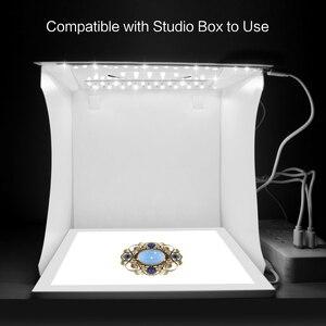 Image 3 - PULUZ Mini 22.5cm LED Photography Shadowless Bottom Light Shadow free Light Lamp Panel Pad for 20 cm Photo Studio Box lightboxs