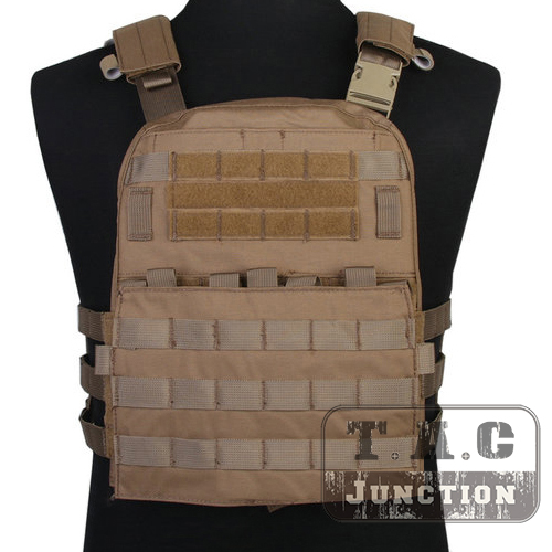 Emerson Tactical Adaptive Vest AVS Plate Carrier Assault MOLLE Lightweight Body Armor 3 Band Skeletal Cummerbund Coyote Brown