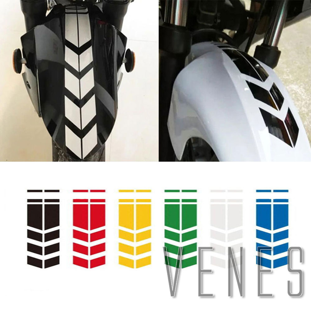 2PCS Car Stickers Car Stripe Reflective Motorcycle Fender Stickers Modified Safety Warning Arrow Tape Decoration Accessories