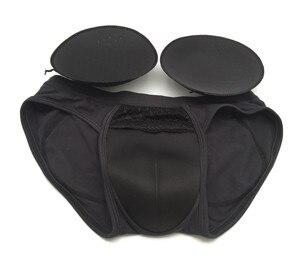 Image 2 - Crossdresser Perfect Push Up Hips Camel Toe Gaff Panty Pockets Padded Briefs Shemale Fake Vagina Sponge Padded Panties