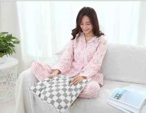 100% bawełna lato piżamy zestaw dresik z długim rękawem dziewczyny w wieku matki jesień jesień wyposażenie domu nosić jednorożec piżamy sweter