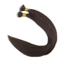 Full Shine Dark Brown Color #2 Real Hair Best Quality Keratin Human Hair Extensions Nano Tip Human Hair Extension 0.8g/strand