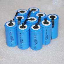 10 12 16 шт. Sub C SC 1.2 В аккумуляторная батарея 2000 мАч Ni-MH NiMH ячейки со сваркой контакты вкладки для пылесос электродрель